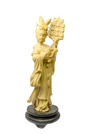 wise woman: Chinese souvenir,Old wise woman statue Stock Photo