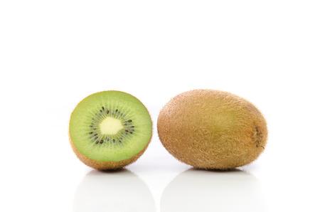 cantle: Kiwi fruit sliced segments isolated on white background