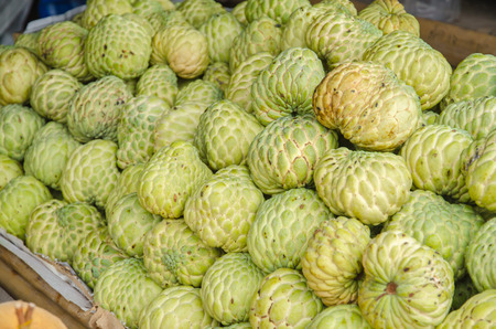 custard apples sales in the fruit market .