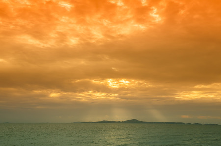lighted: the Sunset Sky With Lighted Clouds Stock Photo