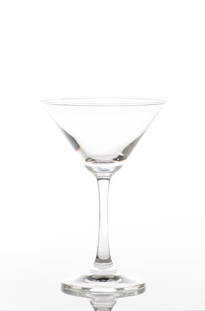 bocal: Empty champagne flute, isolated on a white background