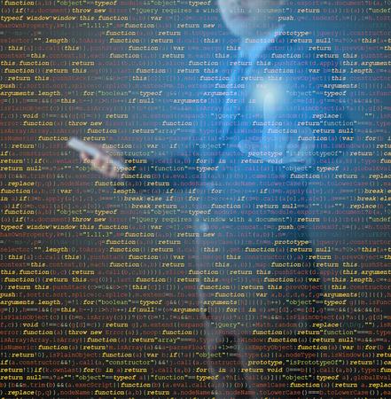 css: website development - programmer writing HTML, CSS and Java Script code Stock Photo