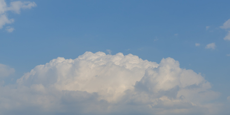 scapes: White cloud with blue sky background