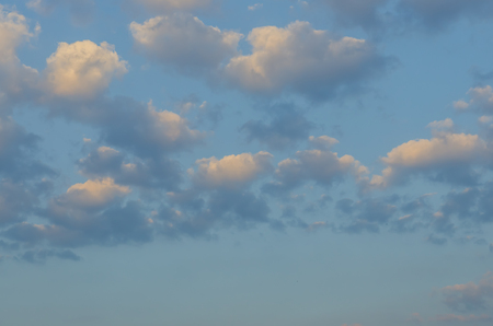 cloudscapes: White clouds with blue background in the morning.