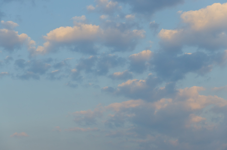 scapes: White clouds with blue background in the morning.