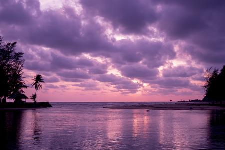 estuary: beutiful sunset over the estuary