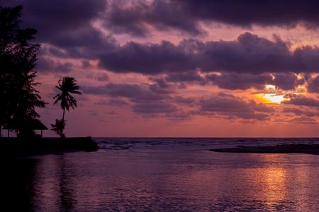 estuary: beautiful sunset over the estuary