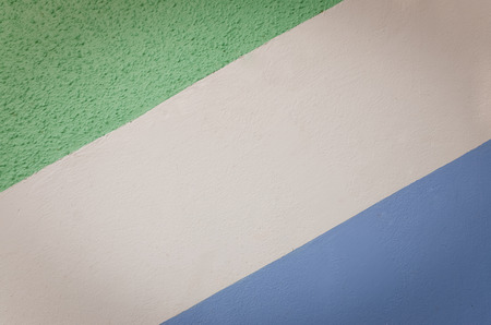 wall paint: stripe pattern wall paint, blue, white and green Stock Photo