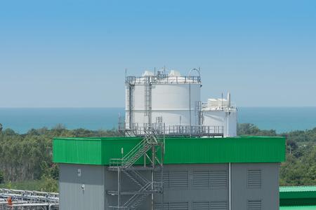 storage tank: Chemical storage tank area.
