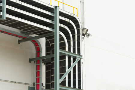 Support cable tray for substation building.