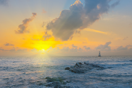morning nature: Gulf of Thailand early morning sunrise over the sea.