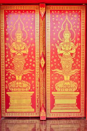 art door: Thai art door painting