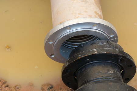 suction: Pipe connection for underground suction pipe.