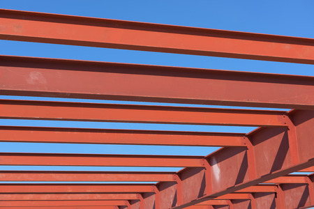 i beam: Red of steel structure.