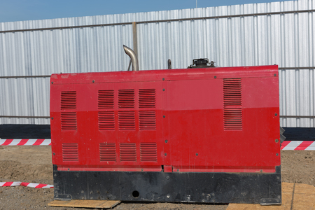diesel generator: Mobile diesel generator for emergency electric power.