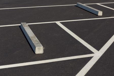 sleeper: Row of car park sleeper.