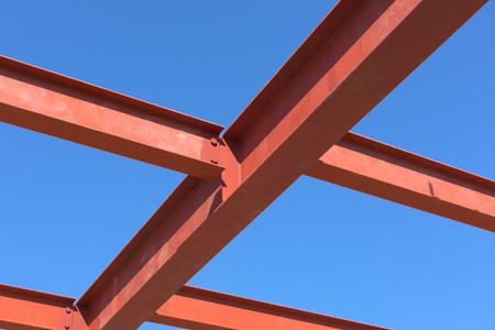 steelwork: Red of steel structure.