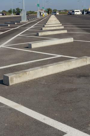 car park: Row of car park sleeper.