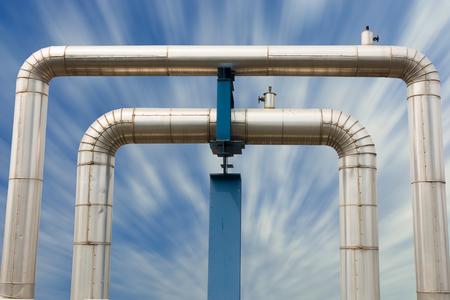 a loop: Omega loop steam pipeline for industrial.