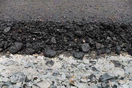 the edge: Edge of asphalt road. Stock Photo