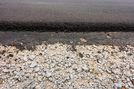 road paving: Greavel and concrete asphalt of road paving.