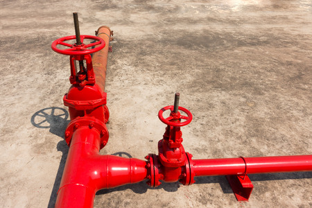 fire protection: Fire protection main valve.
