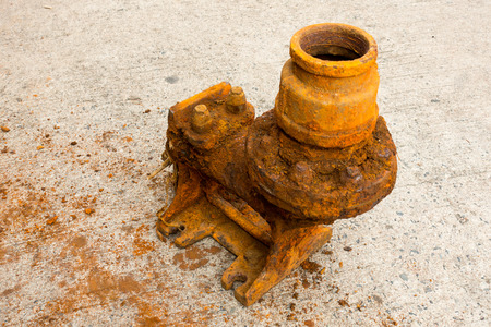 corrosion: Old sewage pump and rust corrosion.