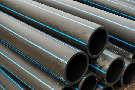 electrical materials: HDPE potable pipe, HDPE pipeline, Storage of HDPE pipe, HDPE pipe.