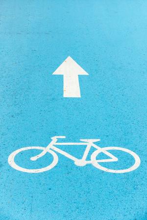 asphalt paving: Symbol sign of bike lane and asphalt paving, Arrow direction symbol.
