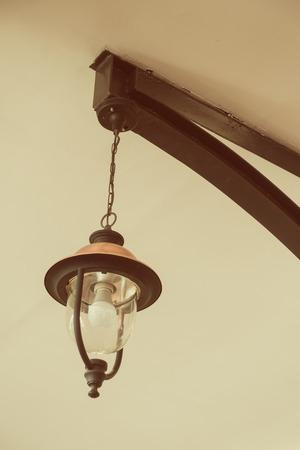 Retro luxury light lamp on ceiling.