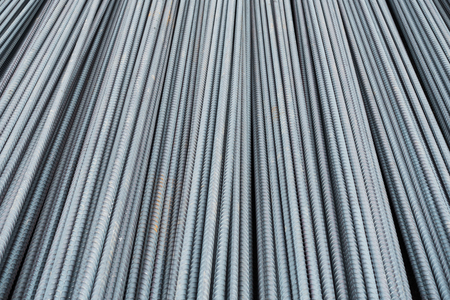 steel bar: Steel bar for reinforcement of building. Stock Photo