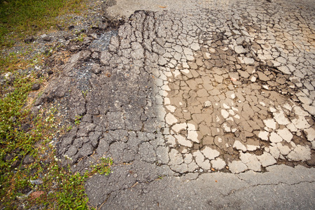 compaction: Failure of soil compaction and asphaltic cracking failure.