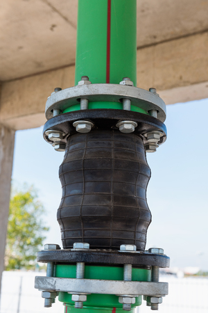 sewer: Flexible pipe connection., Potable pipe.
