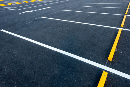 Empty car parking lots, Outdoor public parking. Stok Fotoğraf - 75644055