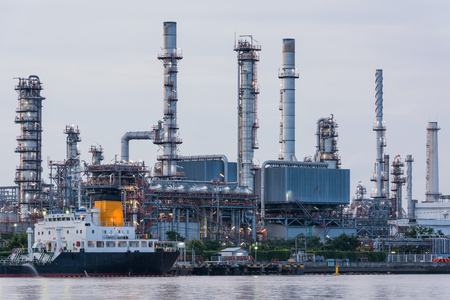 Oil and Gas refinery and shipping loading dock.