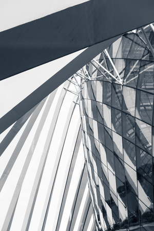Super structure and architecture facade of modern building., Abstract architectural. Stock Photo