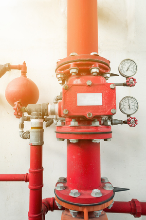 Industrial fire protection system,Industrial equipment. Stock Photo