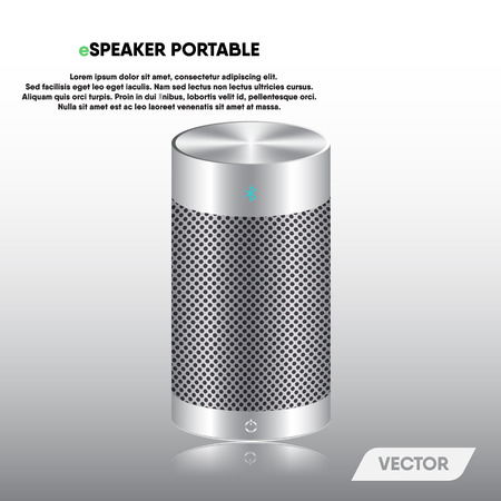 Speaker portable and stereo sound, Vector, Illustration. Illustration