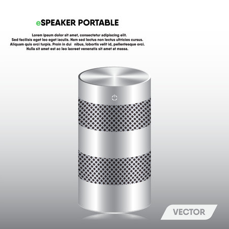 Speaker portable and stereo sound, Vector, Illustration. 向量圖像