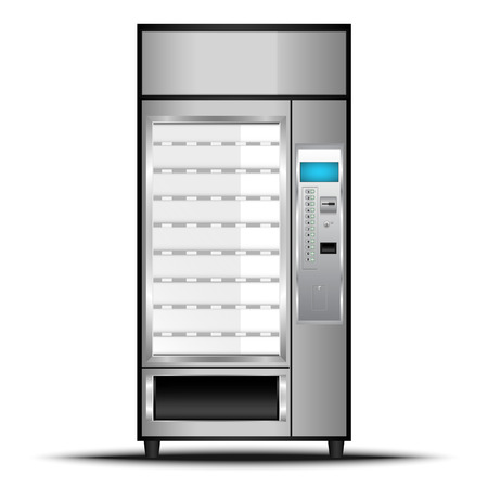 Vending machine of food and beverage automatic selling., Vector, Illustration. Ilustração