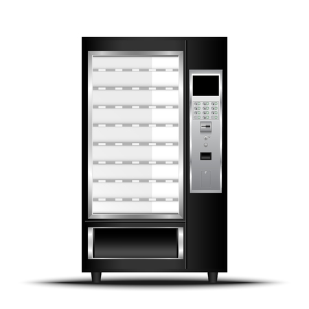 Vending machine of food and beverage automatic selling., Vector, Illustration. 矢量图像