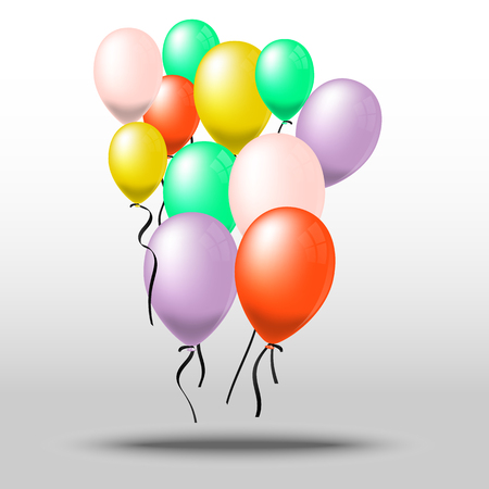 Colorful of balloon bunch, Vector, Illustration.