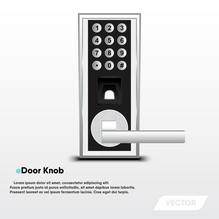 Electronic security door knob, Modern design, Vector, Illustration Иллюстрация