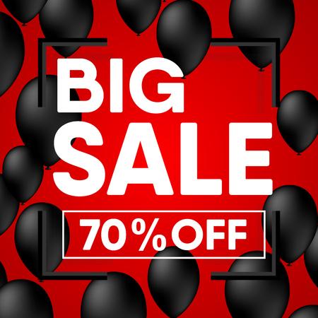 Sale banner and tag design of sale promotion., Vector, Illustration. Illustration