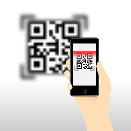 QR Code for mobile payment, Digital code easy pay, Vector, Illustration. Иллюстрация