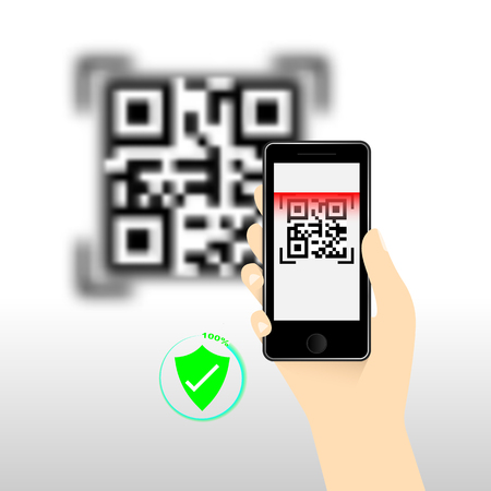 QR Code for mobile payment, Digital code easy pay, Vector, Illustration. 矢量图像
