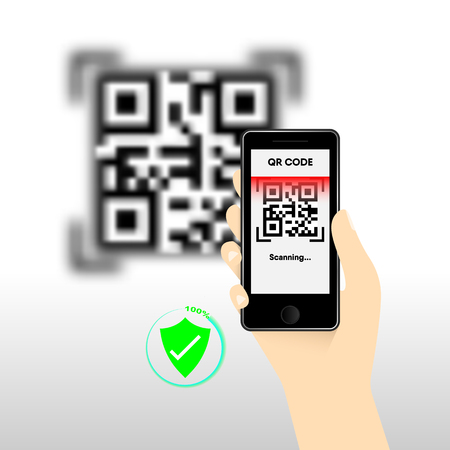 QR Code for mobile payment, Digital code easy pay, Vector, Illustration. Vectores