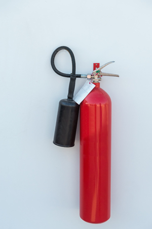 fire extinguisher for fire protection on wall