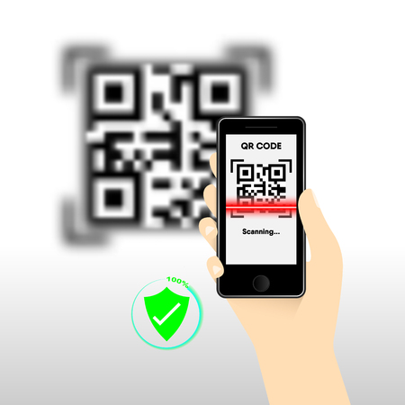 QR Code for mobile payment, Digital code easy pay, Vector, Illustration. Ilustração