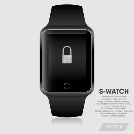 Realistic smart watch modern design., Vector, Illustration.